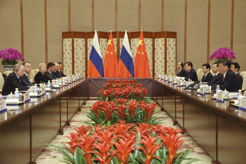 一帶一路高峰論壇14、15日在北京舉行。(美聯社)