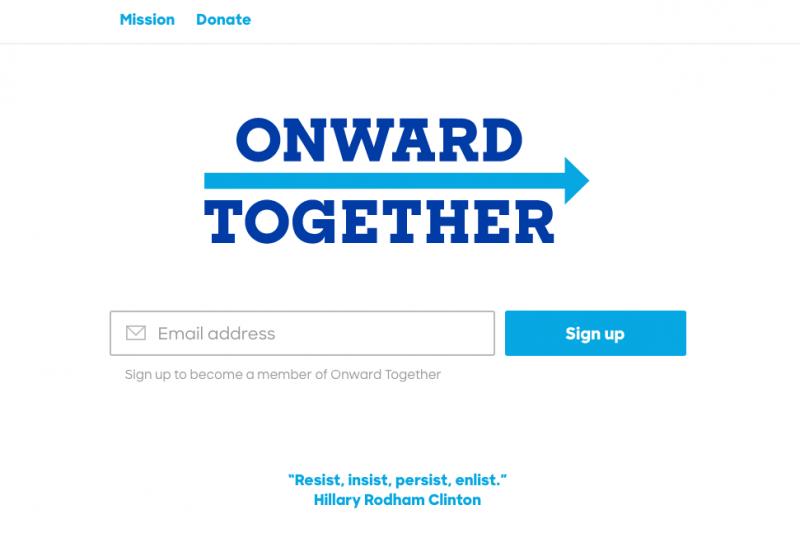 「團結前進」(Onwards Together)。(取自https://www.onwardtogether.org/)