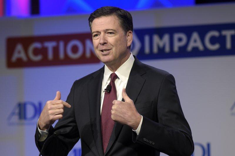 被川普無預警開除的FBI局長柯密。(美聯社)