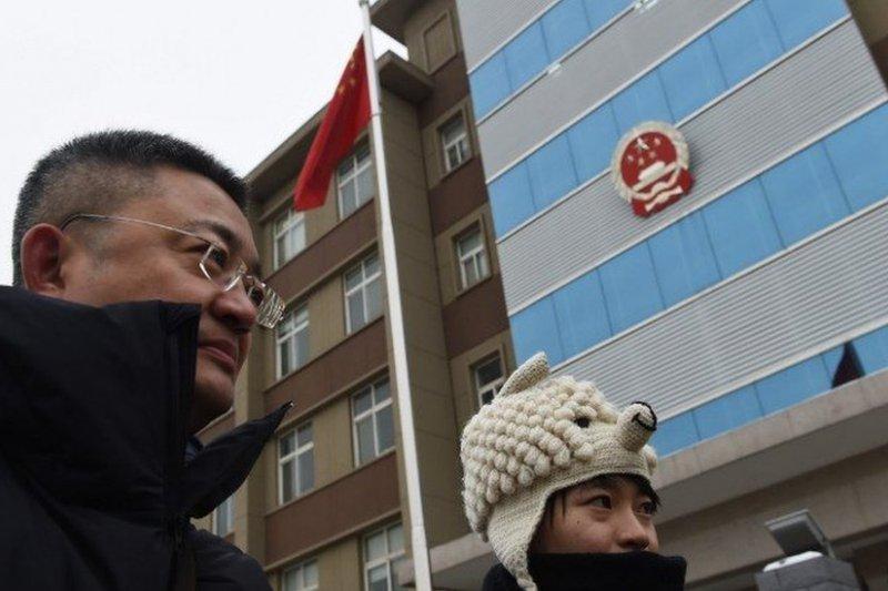 中國強調依法治國,但拒絶司法獨立。天津律協設立政委職位,進一步強調黨的控制(圖為北京一家法院,BBC資料照片)。