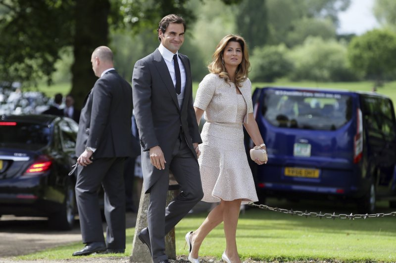 英國凱特王妃的妹妹琵琶.密道頓(Pippa Middleton)5月20日完成終身大事,瑞士網球天王費德勒夫婦出席(AP)