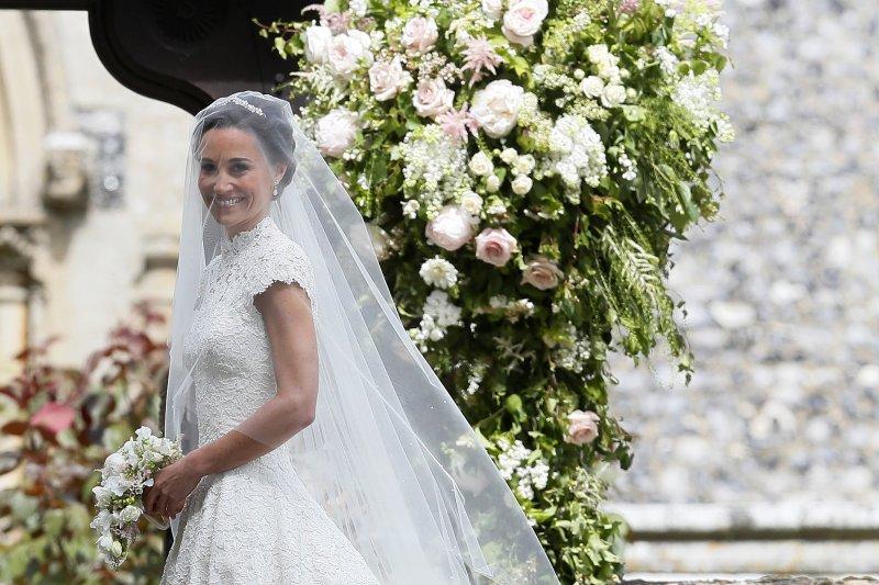 英國凱特王妃的妹妹琵琶.密道頓(Pippa Middleton)5月20日完成終身大事(AP)