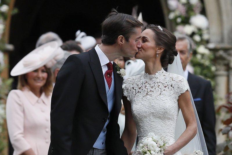 英國凱特王妃的妹妹琵琶.密道頓(Pippa Middleton)5月20日與銀行家馬修斯(James Matthews)完成終身大事(AP)