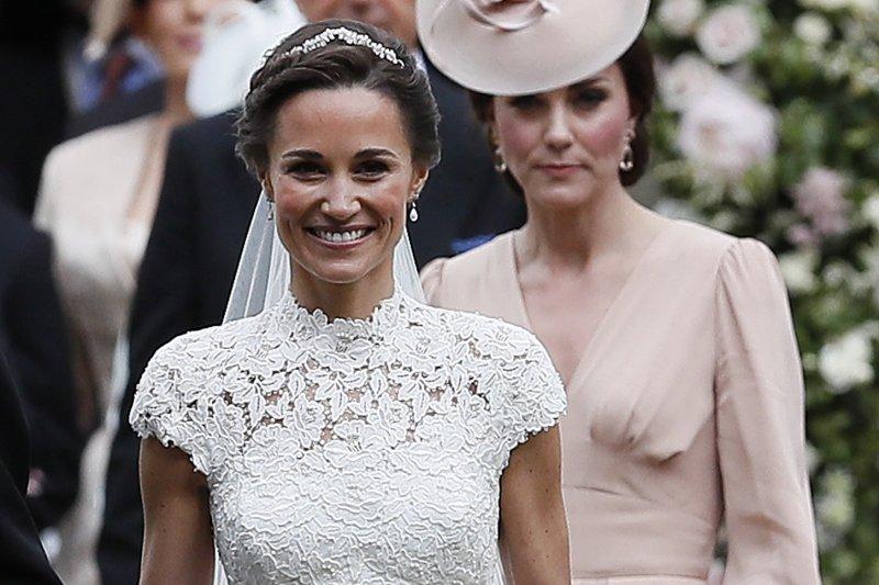 英國凱特王妃5月20日陪伴妹妹琵琶.密道頓(Pippa Middleton)完成終身大事(AP)