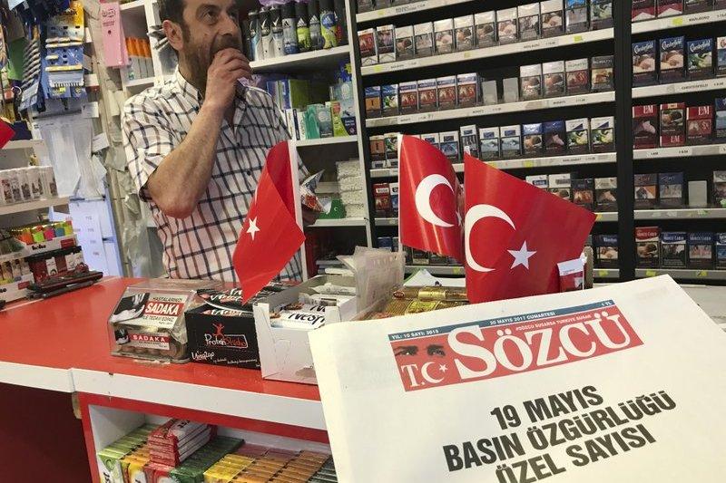 土耳其反對派報紙《發言人》(Sozcu)遭肅清。(AP)