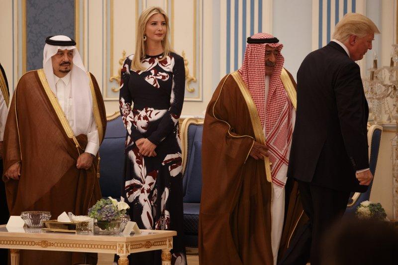 美國總統川普的大女兒伊凡卡(Ivanka Trump)陪同父親訪問沙烏地阿拉伯(AP)