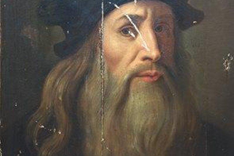 天才達文西過世後留下驚人的筆記本,作者閱讀後找出了達文西所鑽研的「透視法」。(資料照,維基百科公有領域)