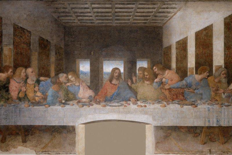 達文西《最後的晚餐》。(維基百科公有領域)