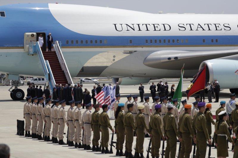 川普22日到訪以色列。(美聯社)
