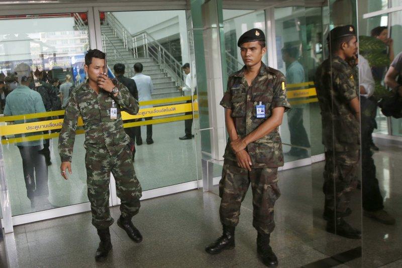 泰國首都曼谷「拉瑪四世紀念醫院」(Phramongkutklao Hospital)22日遭到炸彈攻擊,造成20多人受傷(AP)