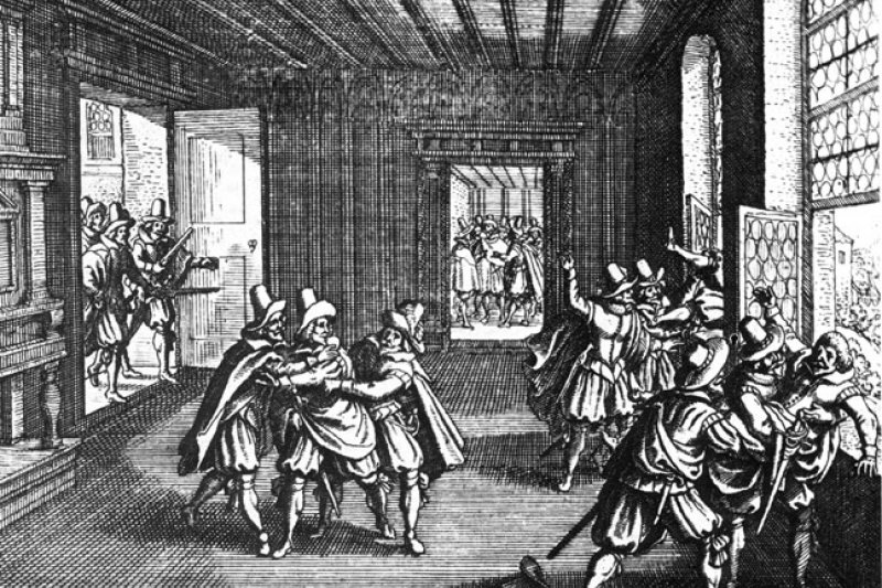 布拉格扔出窗外事件。(wikipedia/public domain)