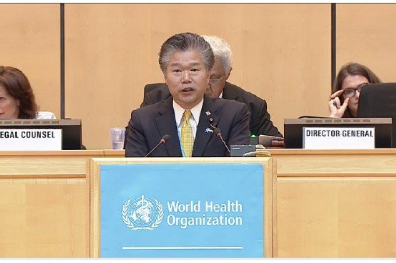 日本代表指出,世界越來越全球化,面對傳染病跨國境傳染的威脅增強,「不應該遺漏特定的地區」。(取自WHO網站)
