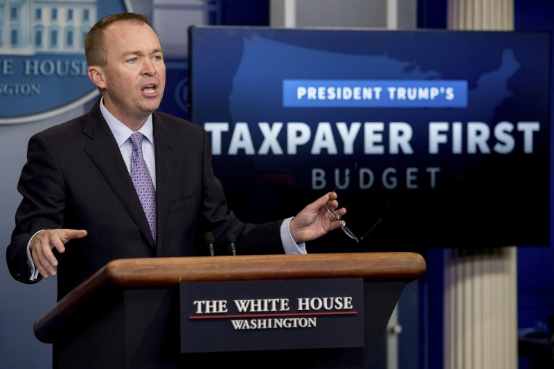 川普預算藍圖:白宮行政暨預算管理局局長穆瓦尼(AP)