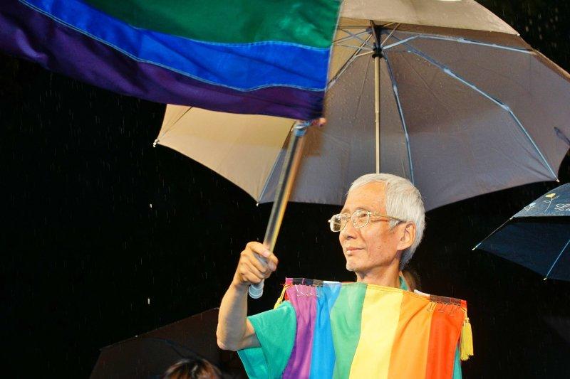 20170524-婚姻平權大平台活動,祁家威出席。(盧逸峰攝)