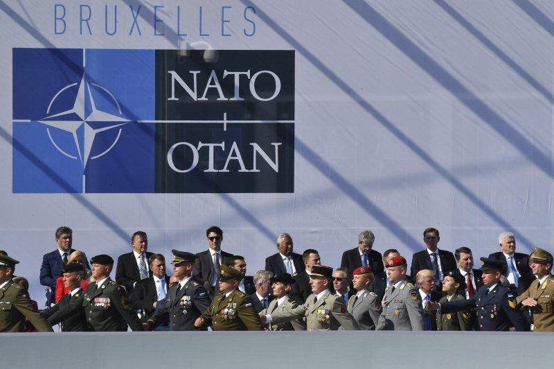 北大西洋公約組織在比利時布魯塞爾舉行峰會。(美聯社)