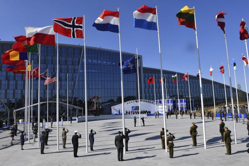 北約(NATO)峰會25日於比利時首都布魯塞爾舉行(AP)