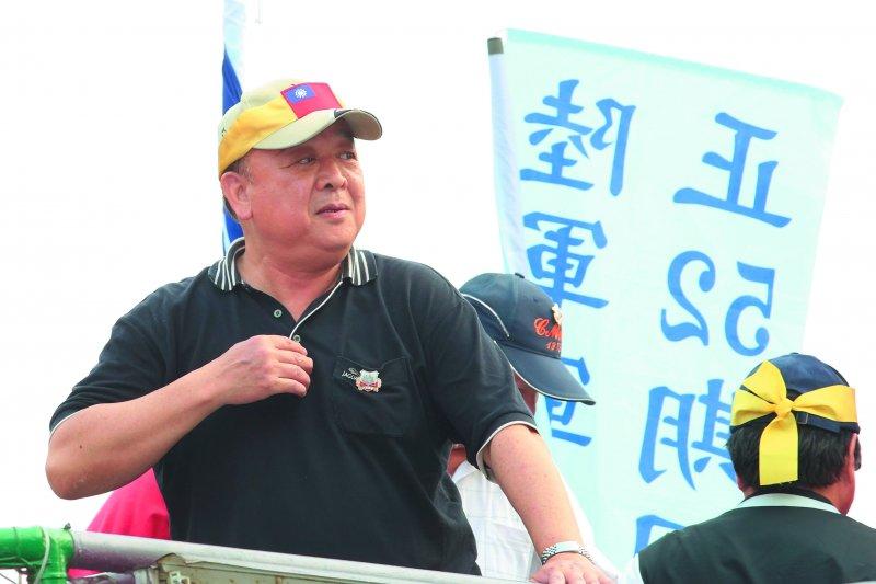 吳斯懷是「八百壯士」軍人反年改抗議行動的主導者之一。(郭晉瑋攝)