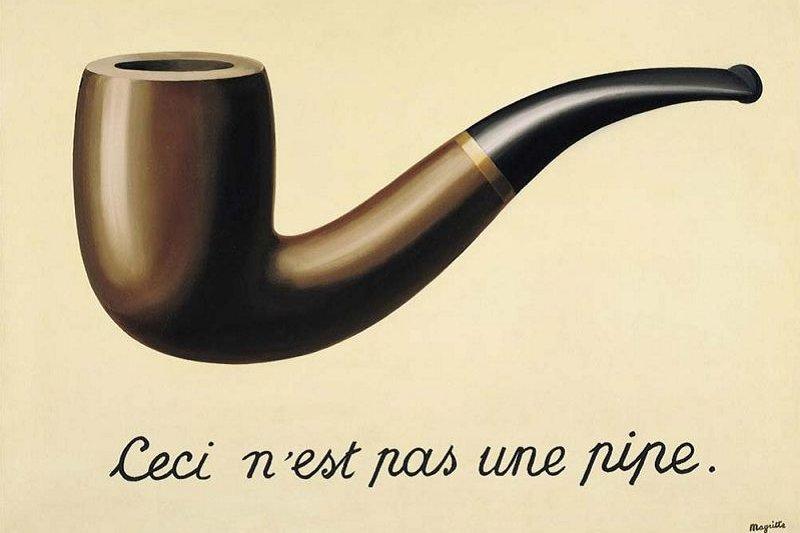 (不是煙斗的煙斗,與不是共同體的共同體,一樣超現實。圖片:Rene Magritte)