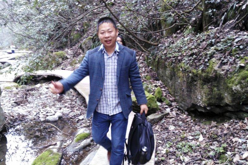 「被失蹤」的中國勞工觀察組織成員李照(AP)