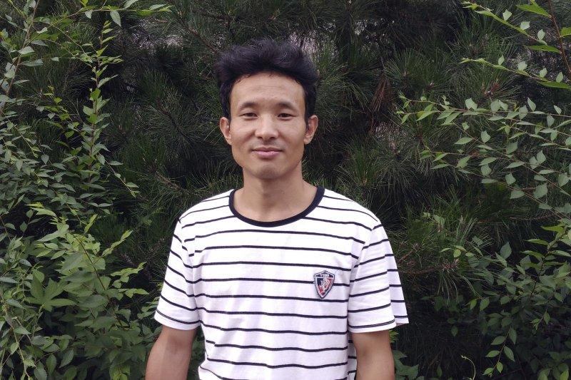 「被失蹤」的中國勞工觀察組織成員華海峰(AP)