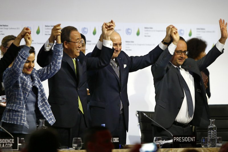 2015年12月,《巴黎協定》出爐,國際社會歡欣鼓舞。