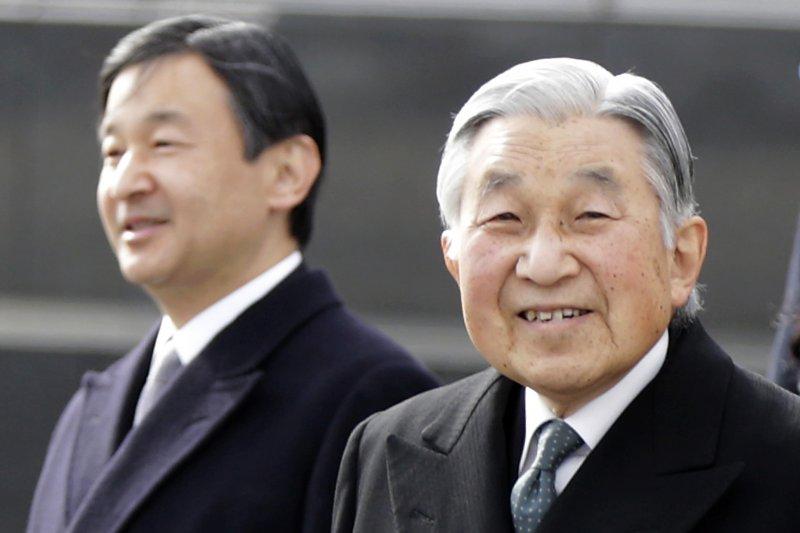 日本明仁天皇與皇太子德仁親父子(AP)