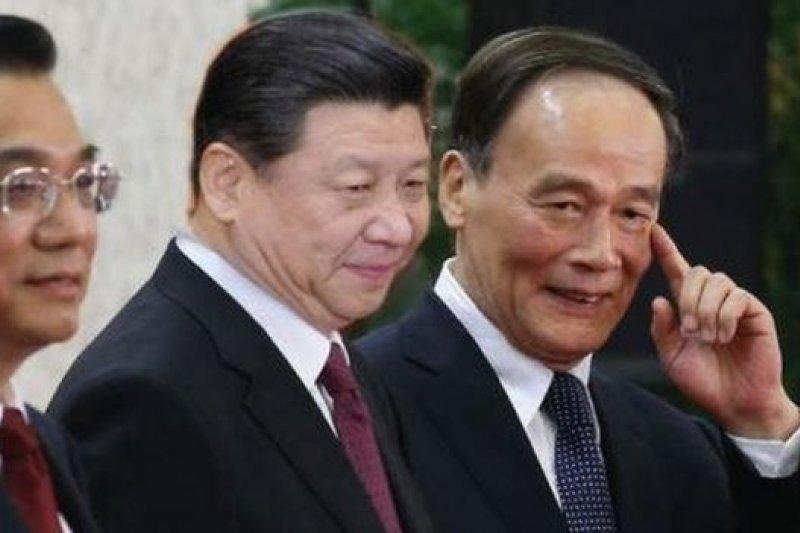 郭文貴爆料矛頭直指王岐山(右),說他是有政治野心的盜國者。(BBC中文網)