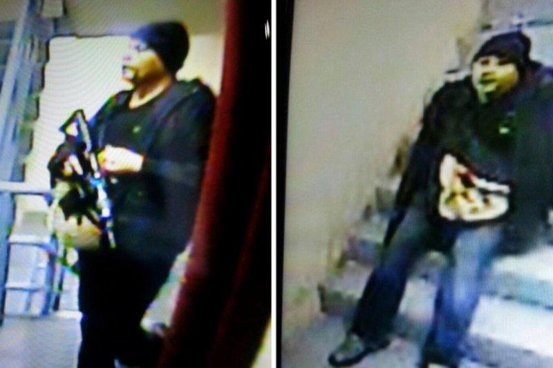 警方公布襲擊發生之後拍攝到的兇手影像。(BBC中文網)