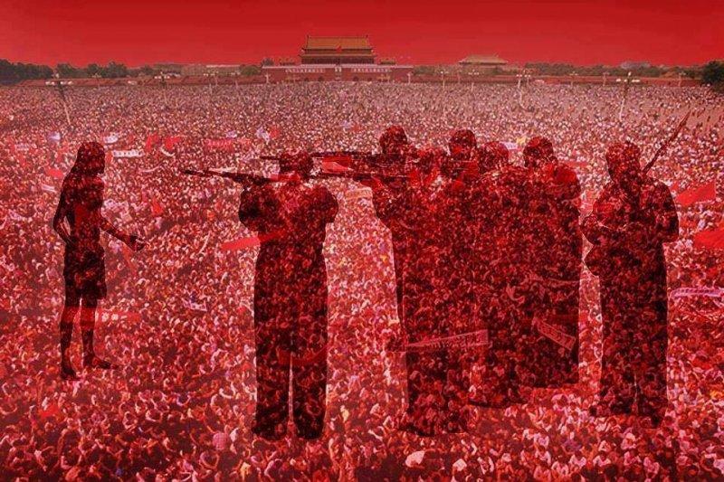 中國的石頭還沒開花,逝去的人仍難安息。(取自作者臉書)