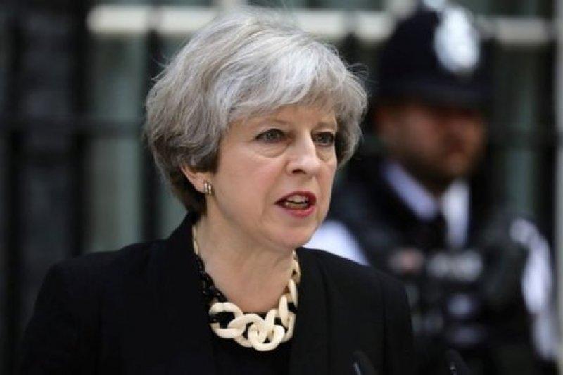 英國首相梅伊。(BBC中文網)