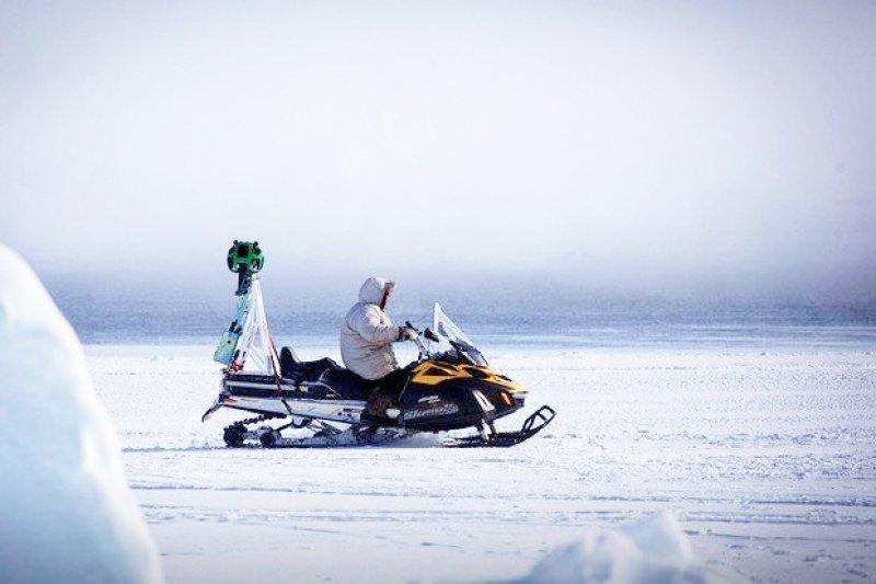 即便在沙漠或極地中,也能看見Google街景相機的身影!(圖/遠見雜誌提供)