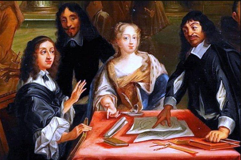 笛卡兒擁有眾多仰慕者,其中不乏身分高貴人士,女性粉絲更是不在少數。(圖/維基百科)
