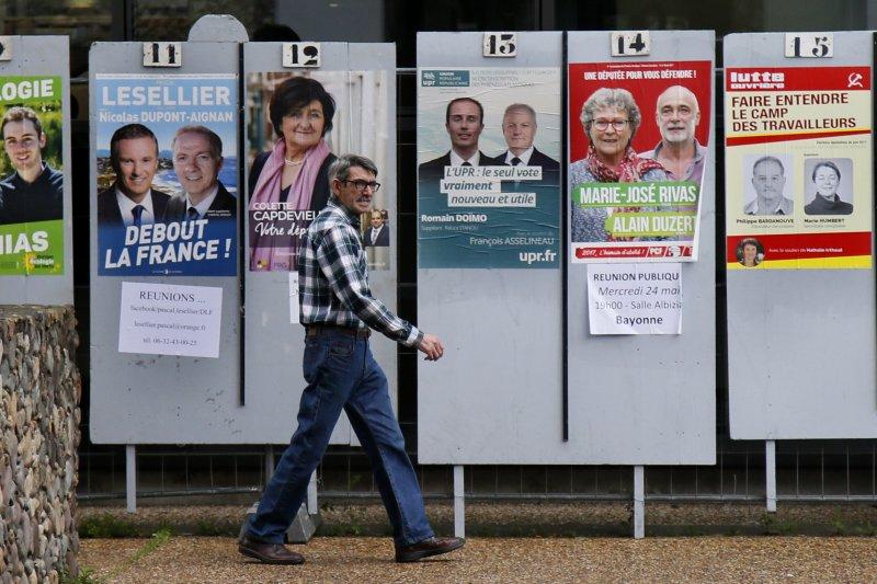 法國今天舉行國會大選首輪投票。(美聯社)