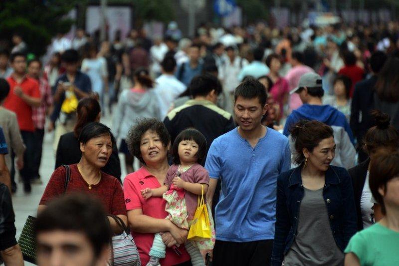 上海南京路步行街。(BBC中文網資料圖片)
