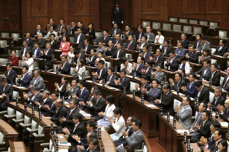 日本參議院14日通過《組織犯罪處罰法》。(美聯社)
