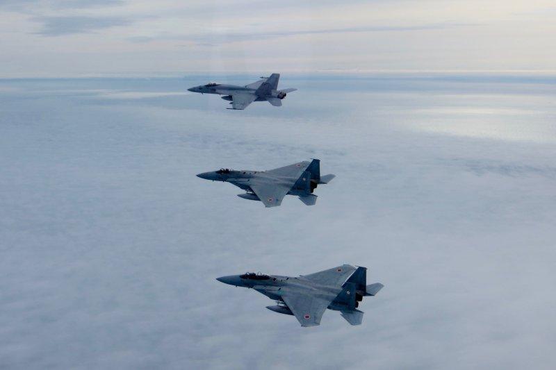 日本自衛隊的F-15戰機。(美國海軍官網)