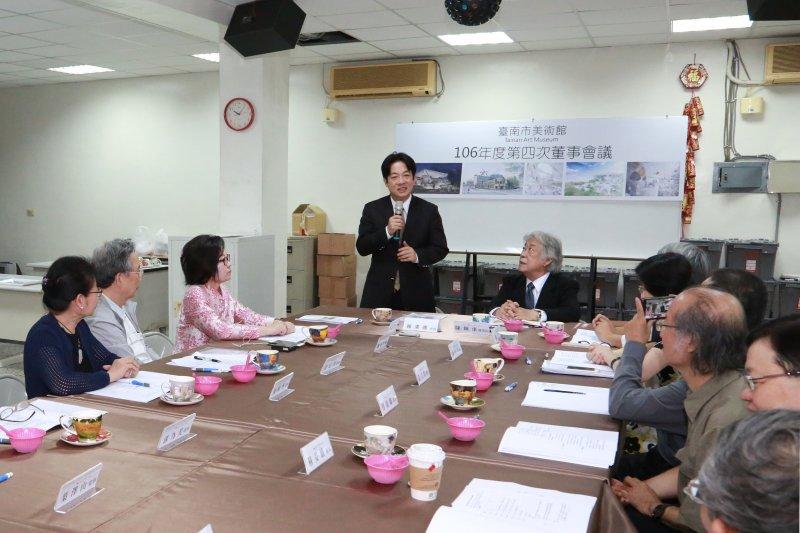 賴清德希望明年開幕展能夠一炮而紅,成功打響臺南市美術館的高度。〔圖/台南市政府提供〕