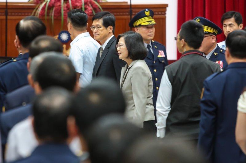 20170615-總統蔡英文15日出席警政署「106年警察節慶祝大會活動」。(顏麟宇攝)