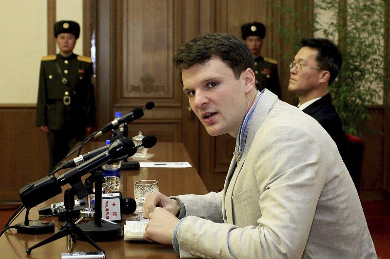 美國大學生瓦姆比爾被北韓拘禁17個月後終於獲釋返美,卻陷入植物人狀態(AP)