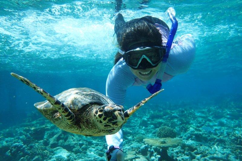 亞洲人的潛水習慣,與美國人恰恰相反,諸多傳統禁忌阻擋了許多人往外走,無邊無際廣闊的海洋簡直是危險的同義詞...(圖/顏孝真提供)
