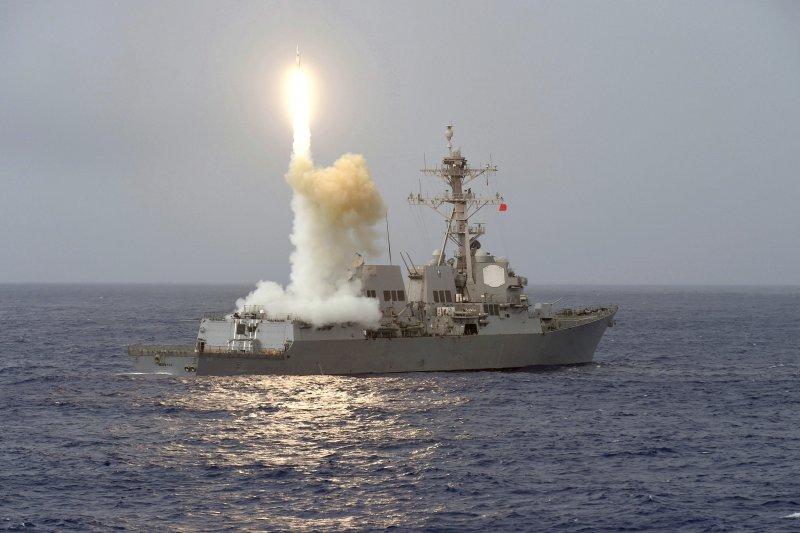 美軍費茲傑羅號驅逐艦(USS Fitzgerald DDG-62)。(美聯社)