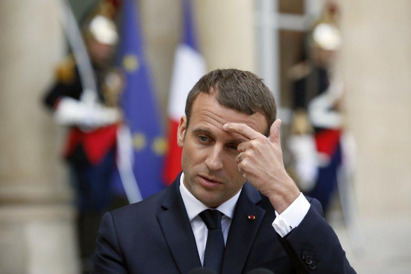 法國總統馬克宏(AP)