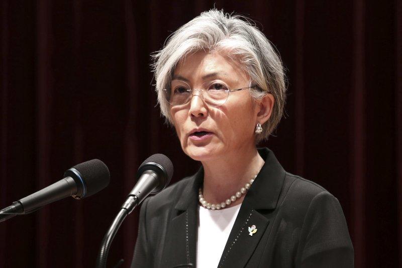 南韓首位女性外交部長康京和。(美聯社)