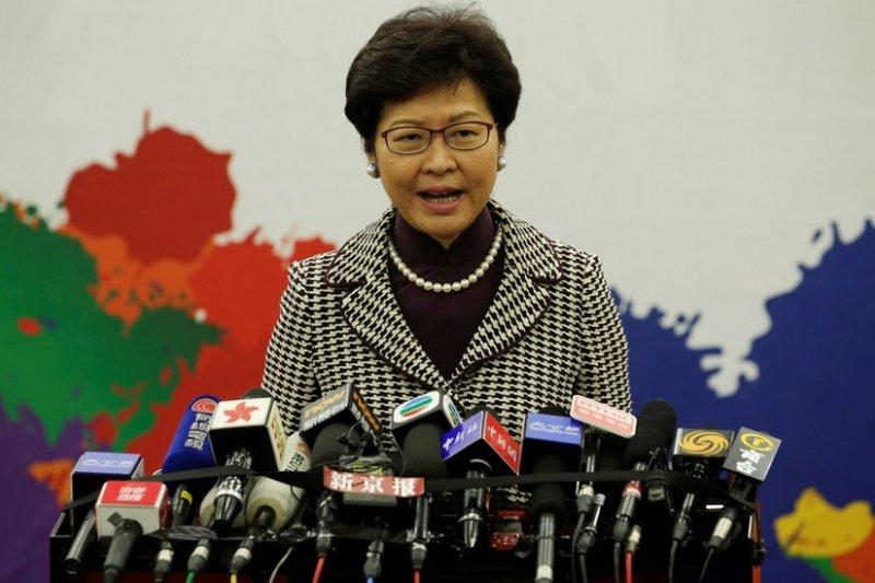 林鄭月娥表示,「一國兩制」模式和以前一樣堅定。(BBC中文網)