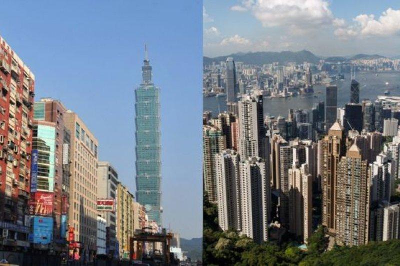 香港(圖右)與台灣(圖左)的往來一向密切。(BBC中文網)