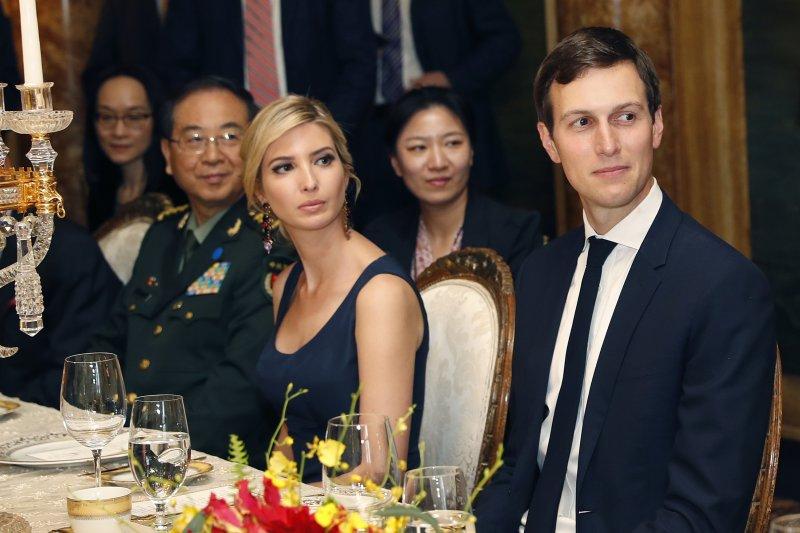 今年4月川習會時,川普女兒伊凡卡與女婿庫許納也一同參與,並獲中國國家主席習近平口頭邀請訪問中國(AP)