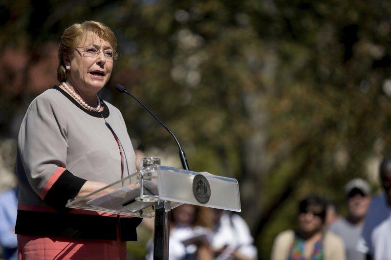 智利女總統巴舍萊於23日公開向原住民馬普切人誠摯地表達歉意。(美聯社)
