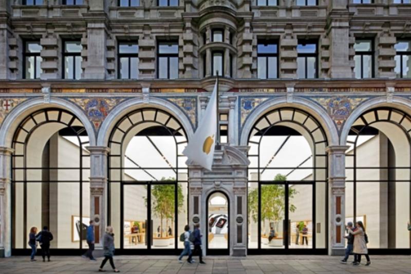 既古典又現代的倫敦攝政街店。 (圖/Apple官網)