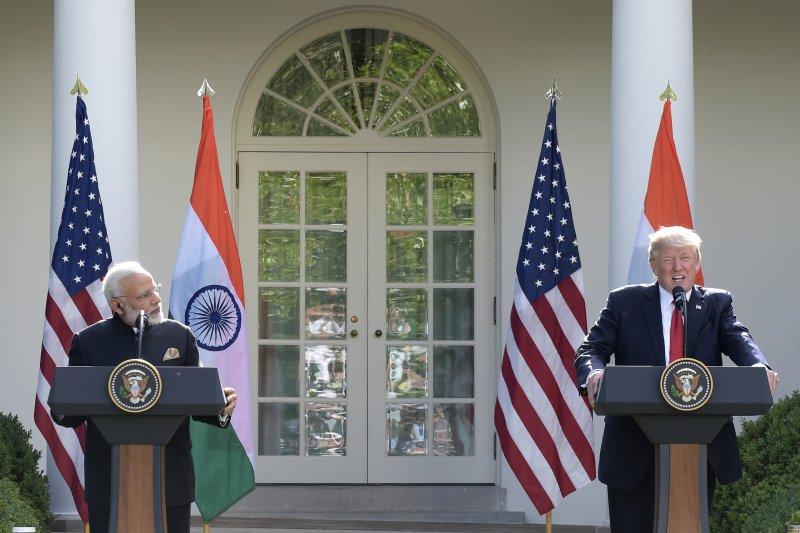 印度總理莫迪與美國總統川普。(美聯社)