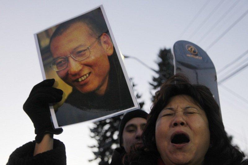 2010年諾貝爾和平獎得主劉曉波保外就醫。(資料照/美聯社)
